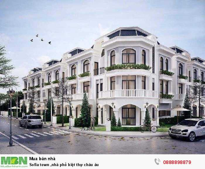 Sofia town nhà phố biệt thự châu Âu