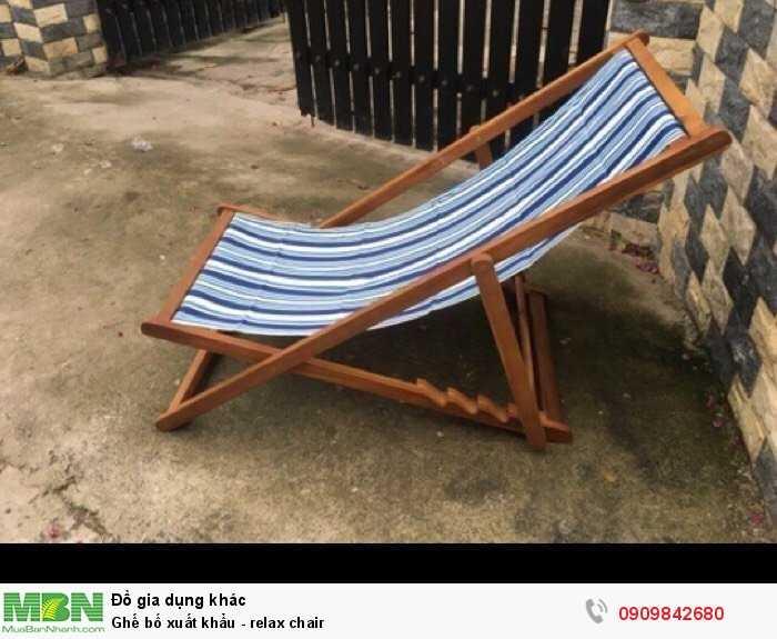 Ghế bố xuất khẩu - relax chair