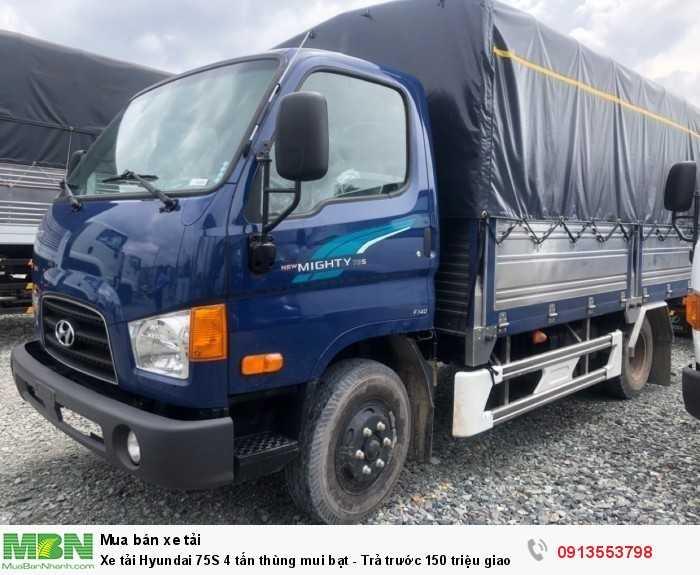 Khuyến mãi mua xe tải Hyundai 75S 4 tấn thùng mui bạt - Trả trước 100 triệu giao luôn xe - Gọi 0913553798 (Mr Thi 24/24)
