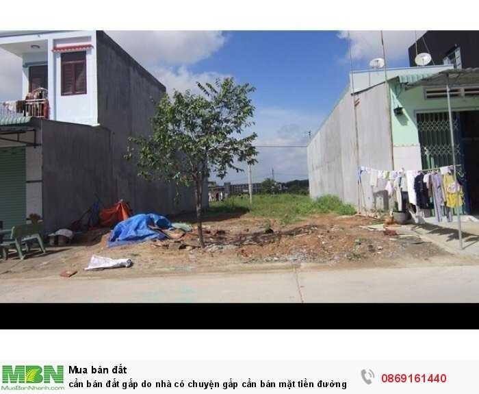 Cần bán đất gấp do nhà có chuyện gấp cần bán mặt tiền đường đinh Đức thiện