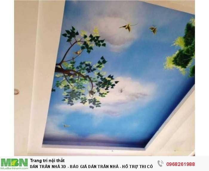 Dán trần nhà 3D - BÁO GIÁ DÁN TRẦN NHÀ - HỖ TRỢ THI CÔNG