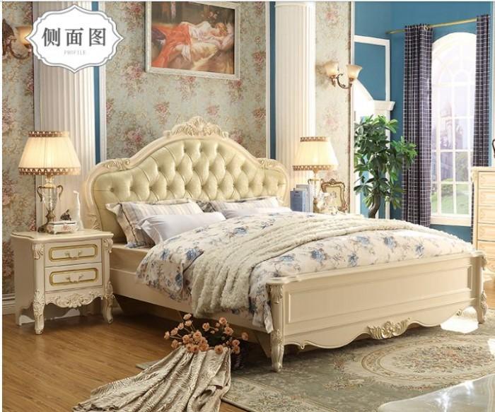 giường cổ điển màu trắng4