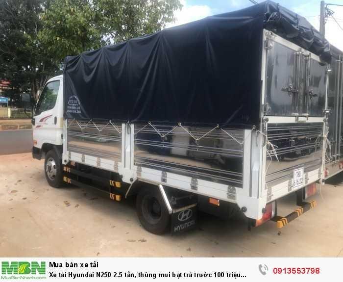 Xe tải Hyundai N250 2.5 tấn, thùng mui bạt trả trước 70 triệu giao luôn xe 2
