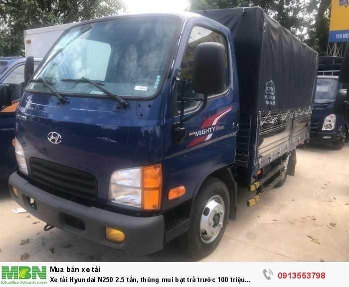 Xe tải Hyundai N250 2.5 tấn, thùng mui bạt trả trước 70 triệu giao luôn xe 3