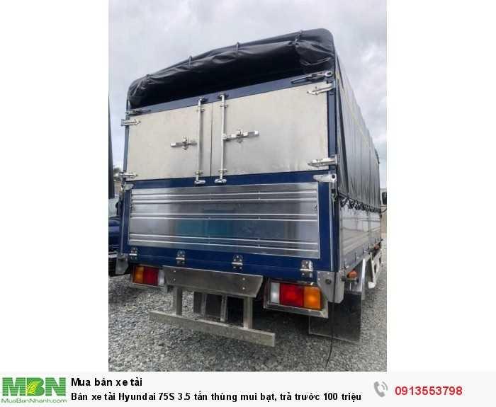 Giá xe tải Hyundai 75S 3.5 tấn thùng mui bạt, trả trước 100 triệu giao luôn xe - Gọi 0913553798 (Mr Thi 24/24)