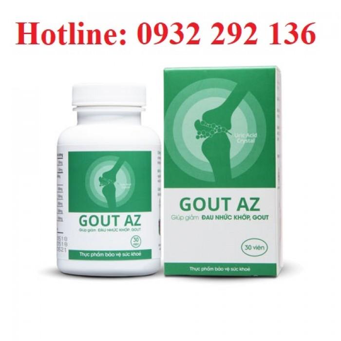 Viên Gout AZ giúp giảm đau nhức xương khớp do Gout, giúp ngăn ngừa biến chứng ổ khớp do gut. Thành phần thảo dược an toàn cho người sử dụng. Liên  hệ 0932 292 136 để được tư vấn và giao hàng toàn quốc