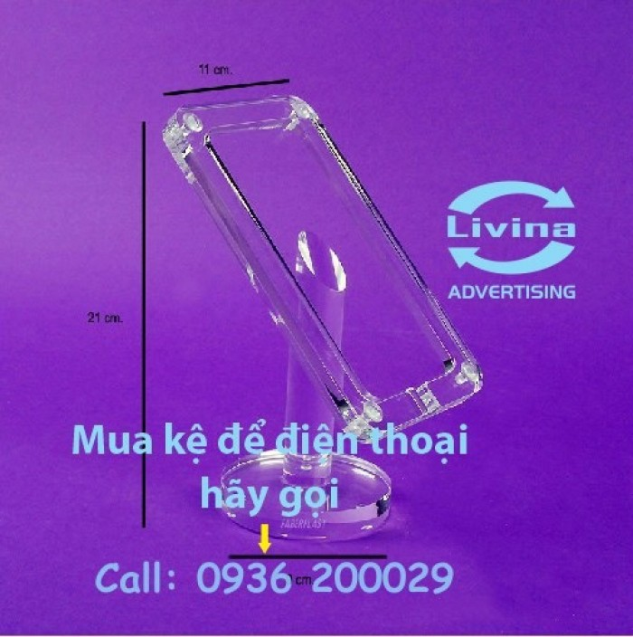 Kệ đựng điện thoại-Kệ trưng bày mica tại quận Thanh Xuân1