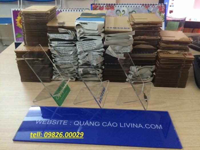 Kệ đựng điện thoại-Kệ trưng bày mica tại quận Thanh Xuân6