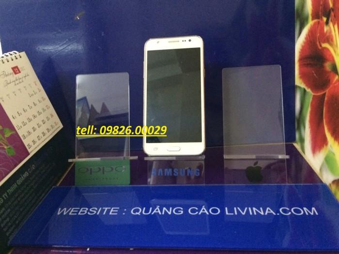 Kệ đựng điện thoại-Kệ trưng bày mica tại quận Thanh Xuân2