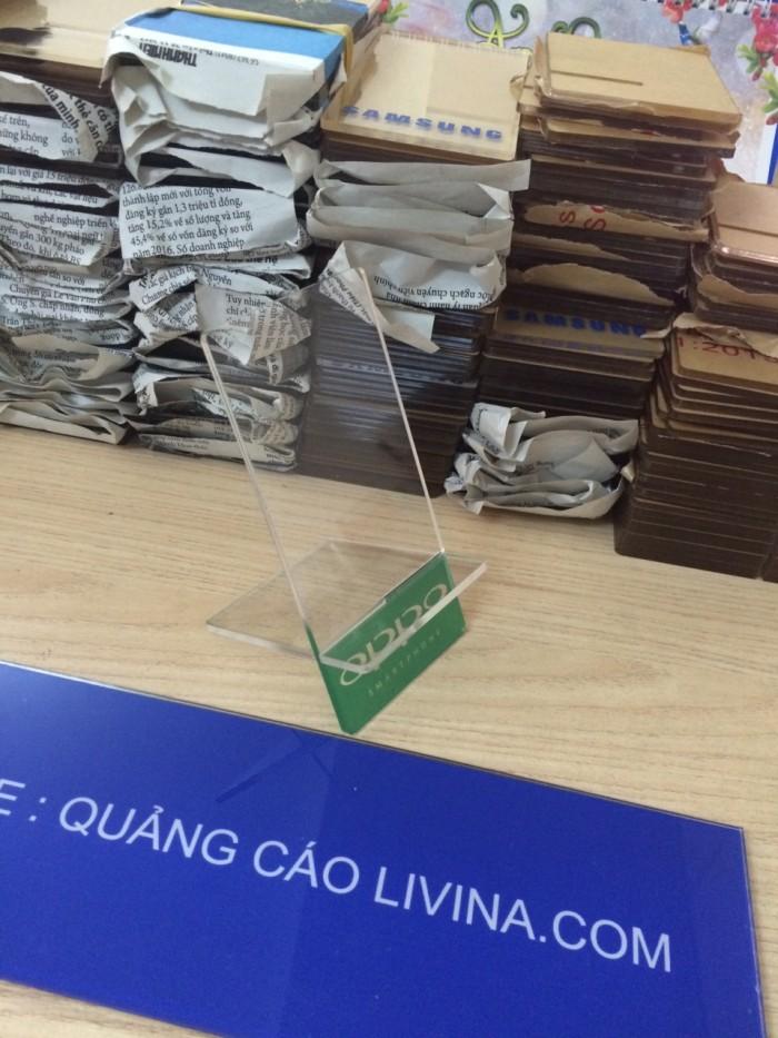 Kệ đựng điện thoại-Kệ trưng bày mica tại quận Thanh Xuân0