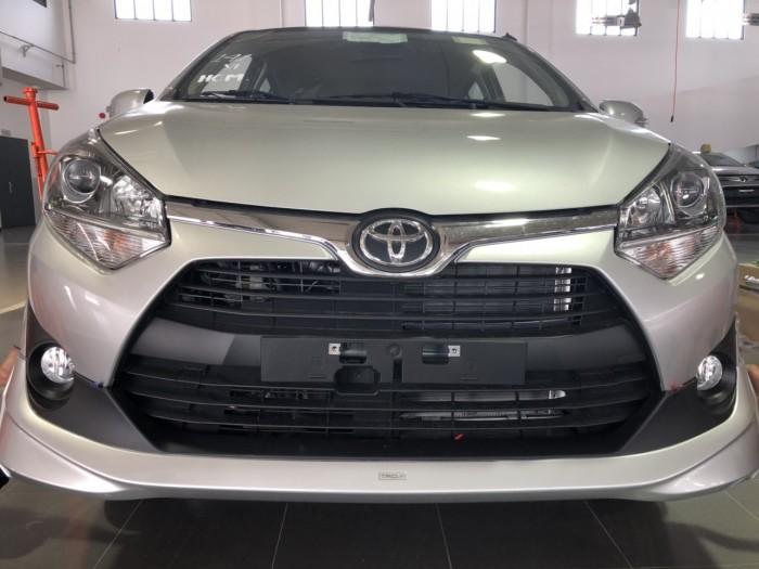 Toyota wigo 1.2a màu bạc nhập khẩu