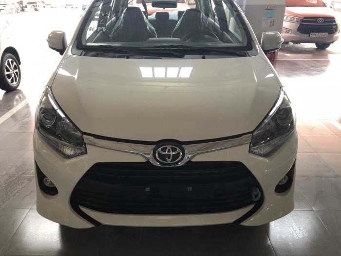 Toyota wigo 1.2at màu trắng nhập khẩu 2019 - XE GIAO NGAY