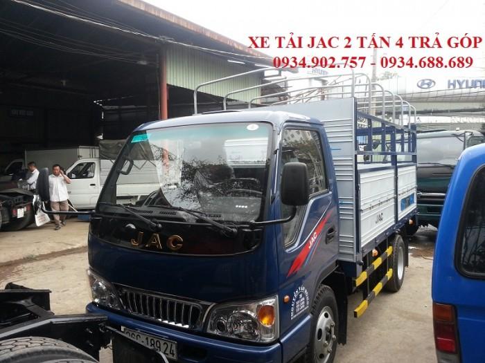 bán xe tải Jac 2T4 thùng mui bạt - xe tải JAC 2 tấn 4 thùng mui phủ bạt giá tốt