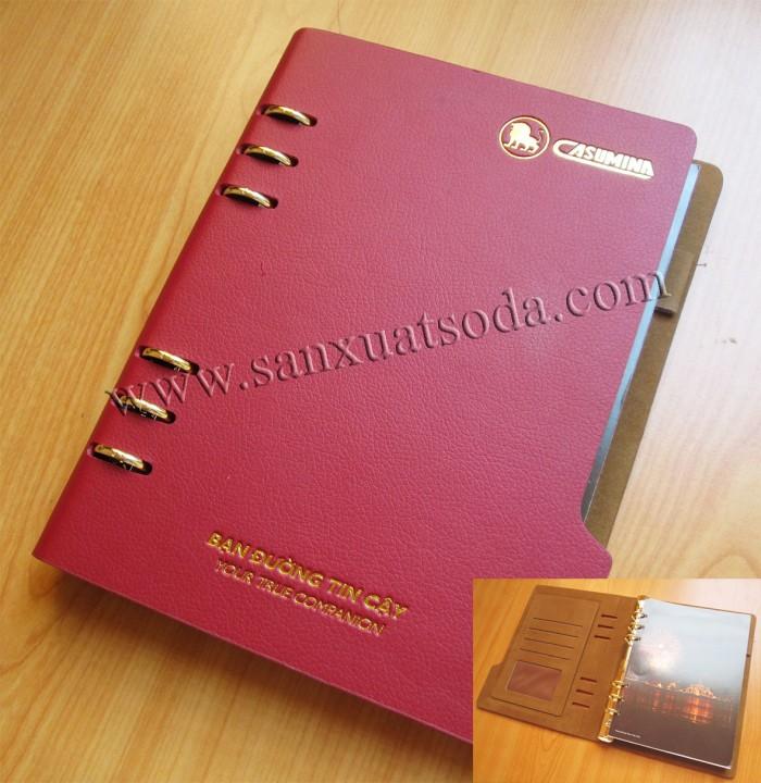 Xưởng sản xuất sổ bìa da giá rẻ, sổ còng, sổ may chỉ dán gáy, sổ lò xo8