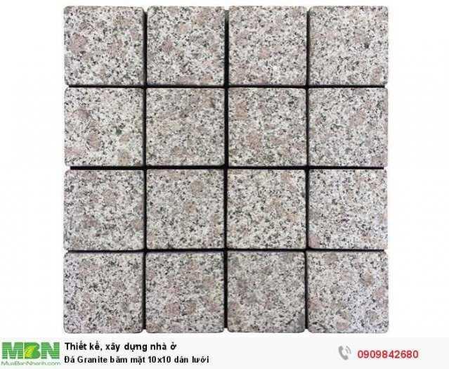 Đá Granite băm mặt 10x10 dán lưới, 400x400x18mm0