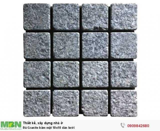 Đá Granite băm mặt 10x10 dán lưới, 400x400x18mm2
