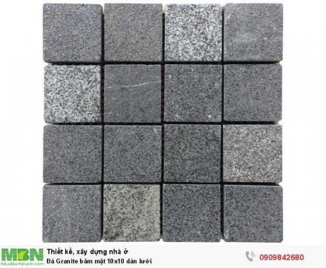 Đá Granite băm mặt 10x10 dán lưới, 400x400x18mm3