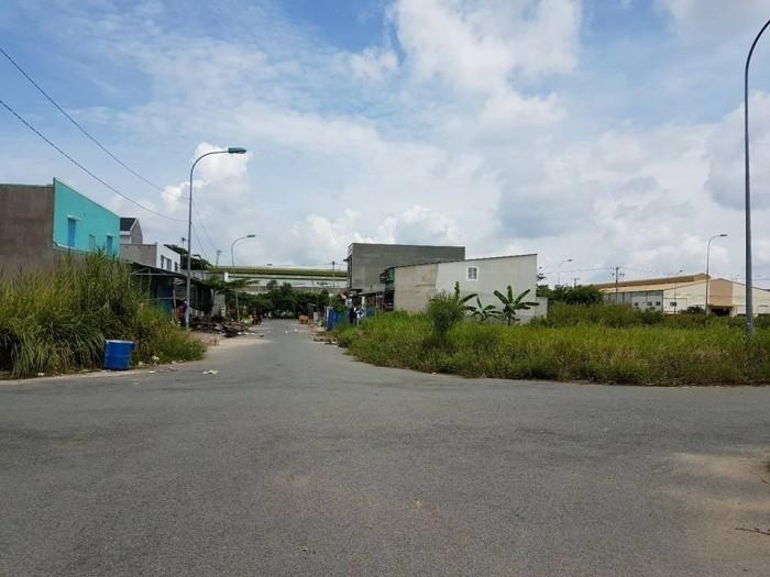 Phá sản bán đất lô góc full thổ cư 147m2, kdc hiện hữu. cách ql 50 100m
