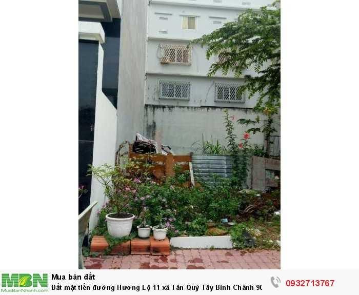 Đất mặt tiền đường Hương Lộ 11 xã Tân Quý Tây Bình Chánh 90m2 SHR