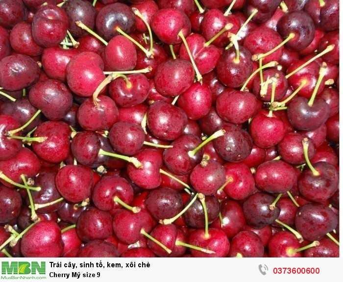 Trái cây nhập khẩu: Cherry Mỹ size 8.5
