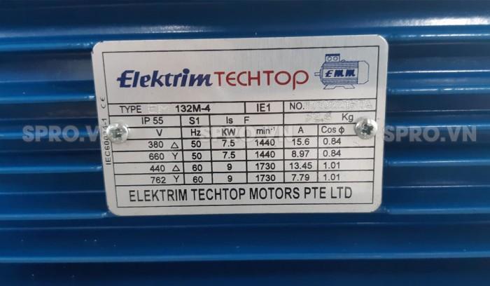 Thông số mô tơ điện Elektrim EM80B-4 3 pha 1 HP5