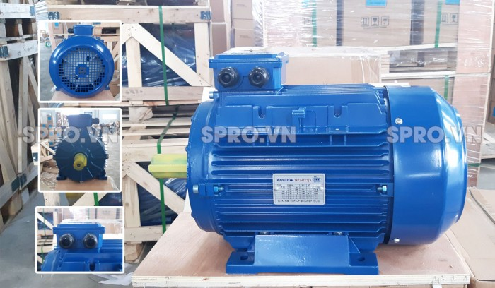 Mô tơ điện Elektrim EM80B-4 3 pha 1 HP nhập khẩu Singapore