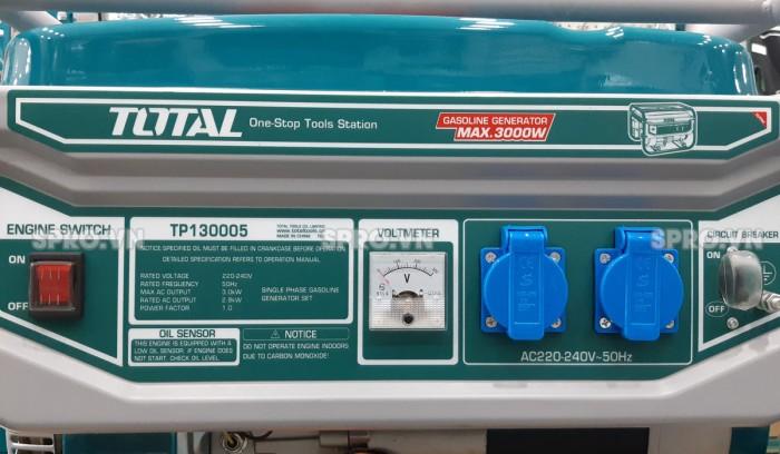 Thông số máy phát điện chạy xăng Total 3kw TP130005
