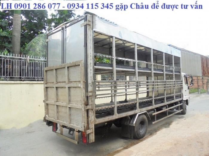 Xe tải Hino FC9JL TA thùng 6m6 thùng chở xe máy/Linh kiện Nhật/ Giá sốc/ hỗ trợ trả góp/thủ tục nhanh 0