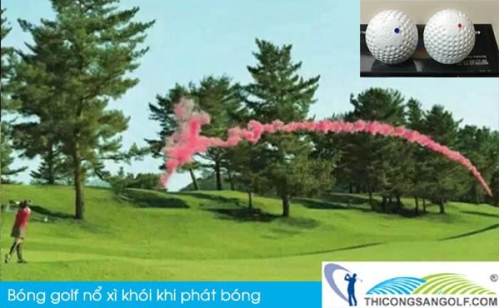 Bóng khai trương giải golf, bóng golf nổ, bóng golf xì khói1