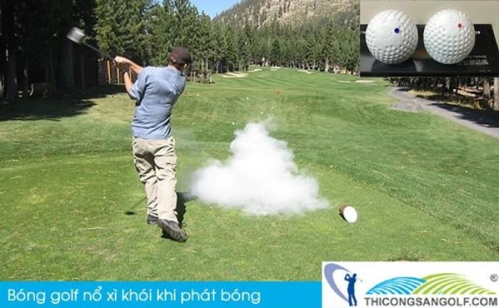 Bóng khai trương giải golf, bóng golf nổ, bóng golf xì khói3