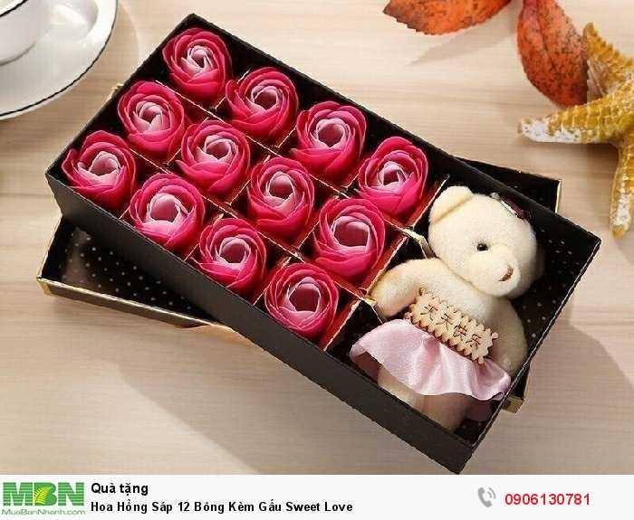 Hoa Hồng Sáp 12 Bông Kèm Gấu Sweet Love4