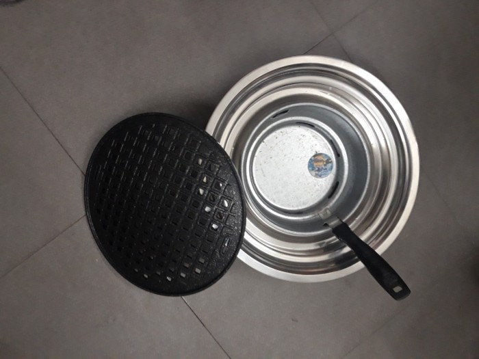 Bếp nướng than hoa âm bàn vỉ gang giá rẻ0