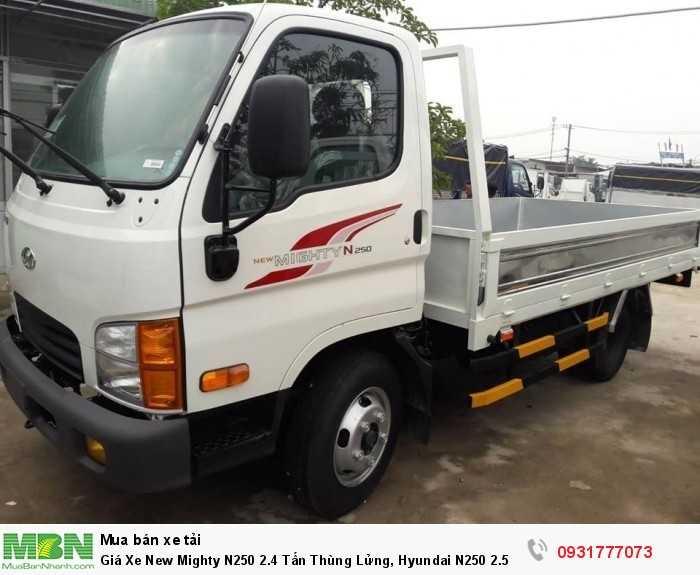 Giá Xe New Mighty N250 2.4 Tấn Thùng Lửng, Hyundai N250 2.5 Tấn Trả Góp 90%