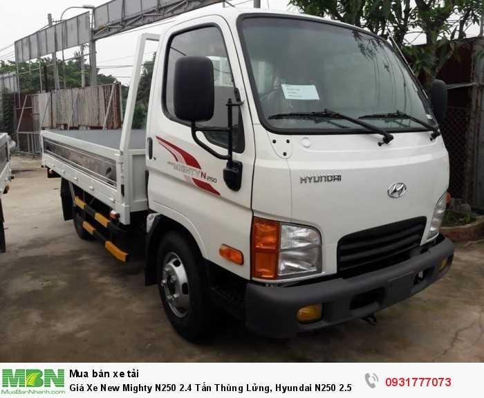 Giá Xe New Mighty N250 2.4 Tấn Thùng Lửng, Hyundai N250 2.5 Tấn Trả Góp 90% 1
