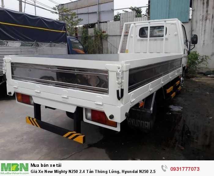 Giá Xe New Mighty N250 2.4 Tấn Thùng Lửng, Hyundai N250 2.5 Tấn Trả Góp 90% 2
