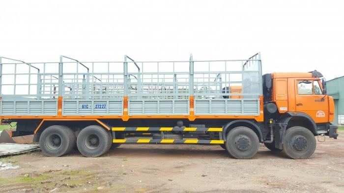 Tải thùng 4 giò Kamaz, Kamaz thùng 30 tấn, Bán xe tải thùng kamaz 4 chân dài 9m 3
