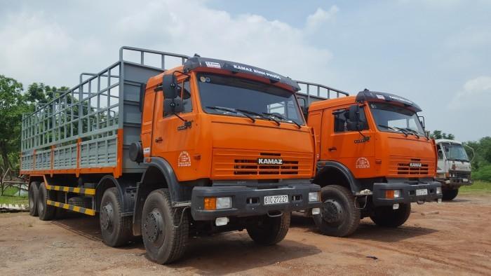 Tải thùng 4 giò Kamaz, Kamaz thùng 30 tấn, Bán xe tải thùng kamaz 4 chân dài 9m 5