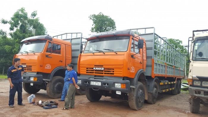 Tải thùng 4 giò Kamaz, Kamaz thùng 30 tấn, Bán xe tải thùng kamaz 4 chân dài 9m 6