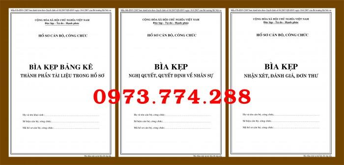 Ở đâu bán bộ hồ sơ cán bộ công chức có mẫu b01, b02, b03, b04, b05, b06  giá rẻ và mẫu chuẩn mới nhất