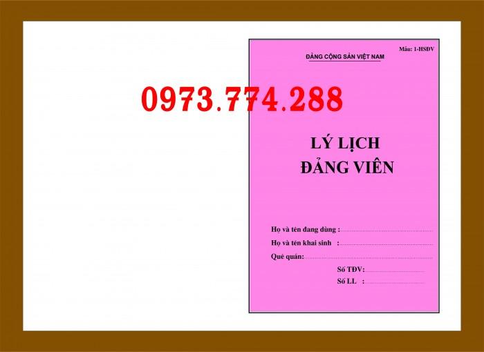 Bán cuốn lý lịch Đảng viên (24 trang, 28 trang và 32 trang)0