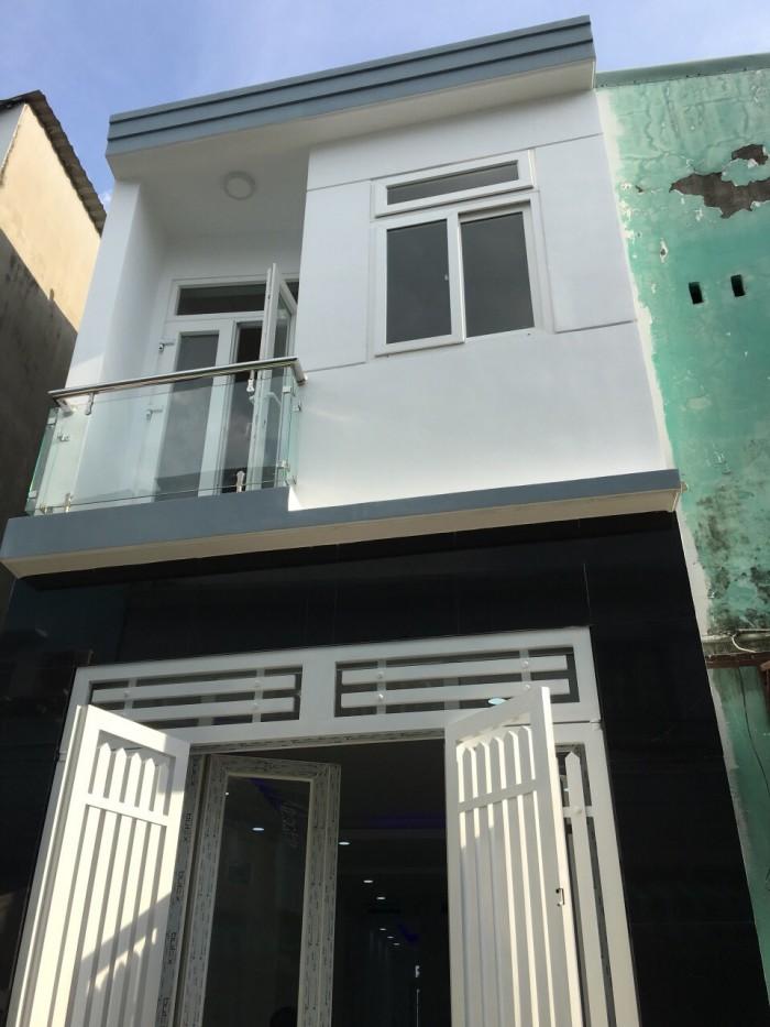 Bán nhà 2 mặt hẻm đường Văn Thân, Q.6, DT 3.5m x 18m, 2 tầng (TL)