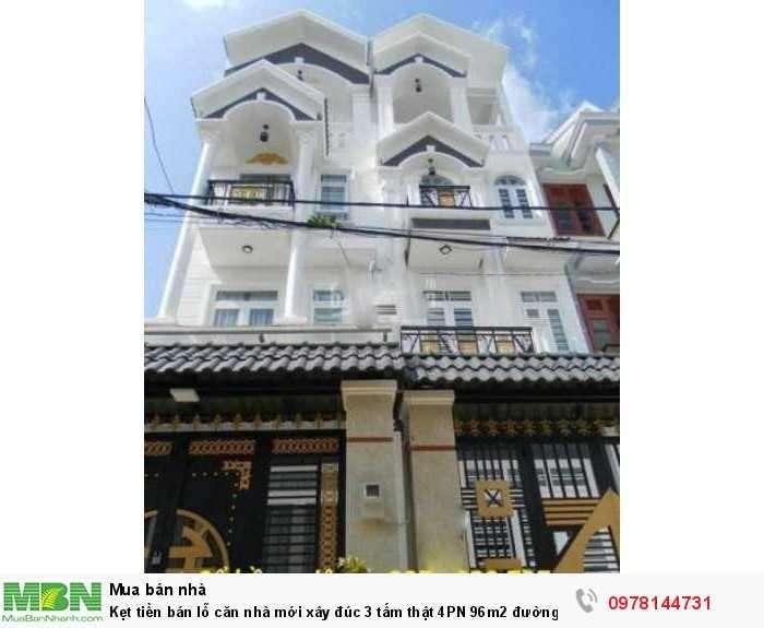 Kẹt tiền bán lỗ căn nhà mới xây đúc 3 tấm thật 4PN 96m2 đường Lê Trọng Tấn nói dài