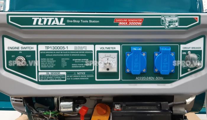 Thông số máy phát điện chạy xăng total 3kw Tp130005-12
