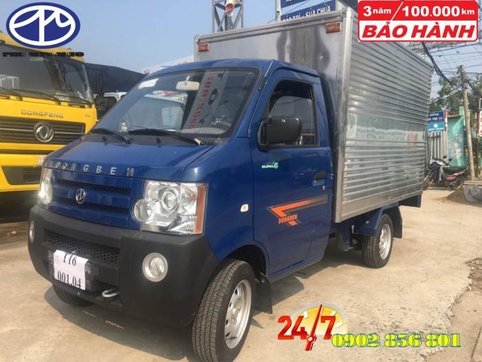 DongBen 870kg Thùng Kín sản xuất năm 2018 Số tay (số sàn) Xe tải động cơ Xăng