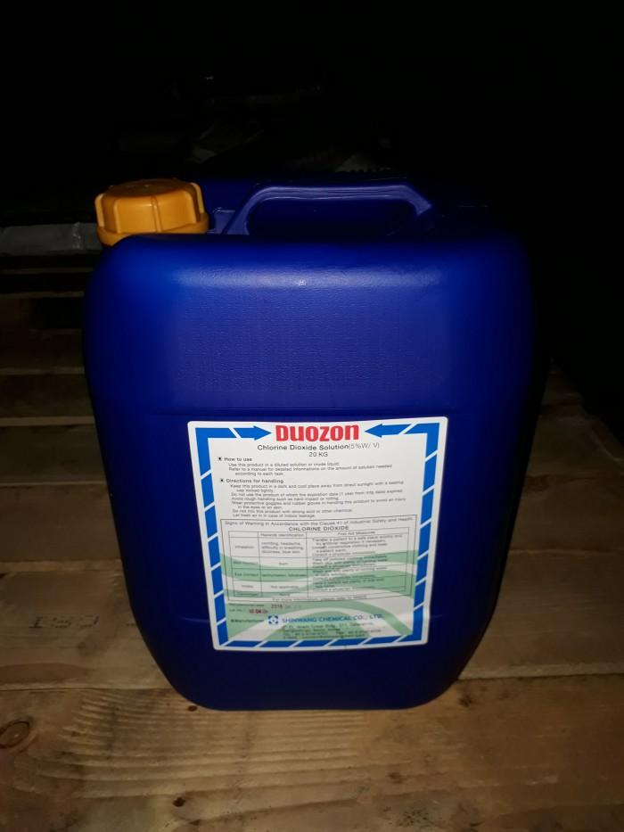 Chlorine Dioxide Duozon 5% - Xuất xứ: Hàn Quốc - Dùng trong thực phẩm, thủy sản, công nghiệp1