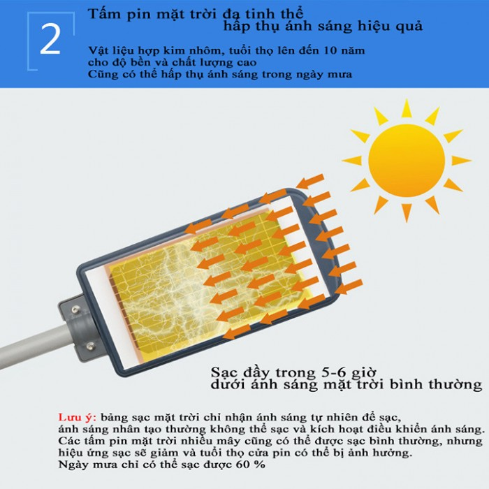 Đèn năng lượng mặt trời liền thể 90W7