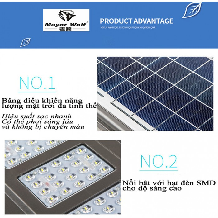 Đèn năng lượng mặt trời liền thể 90W3