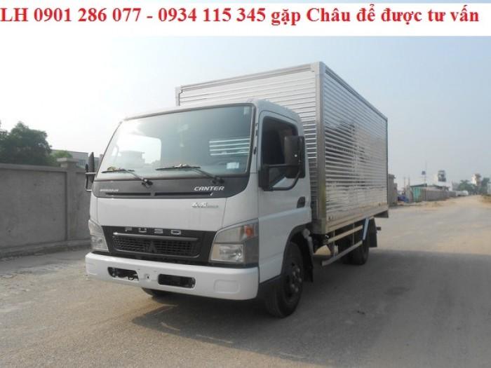Bán xe tài Mitsubishi Fuso Canter6.5 tấn/giá tốt/trả góp 70%/thủ tục đơn giản/giao xe ngay 0