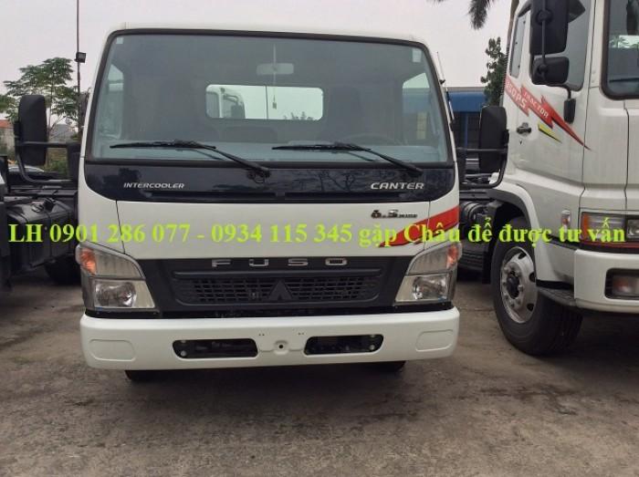 Bán xe tài Mitsubishi Fuso Canter6.5 tấn/giá tốt/trả góp 70%/thủ tục đơn giản/giao xe ngay 2