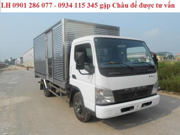 Bán xe tài Mitsubishi Fuso Canter6.5 tấn/giá tốt/trả góp 70%/thủ tục đơn giản/giao xe ngay 1